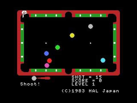 Super Billiards (1983, MSX, HAL Laboratory)