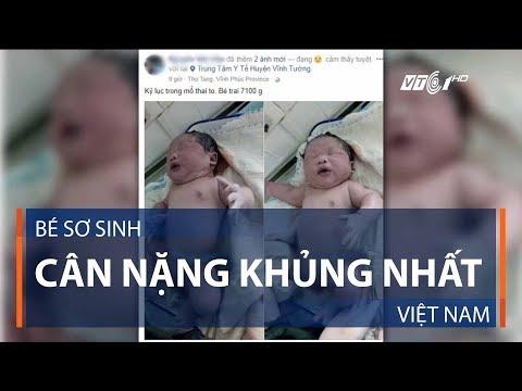 Bé sơ sinh cân nặng khủng nhất Việt Nam   VTC1 - Thời lượng: 81 giây.