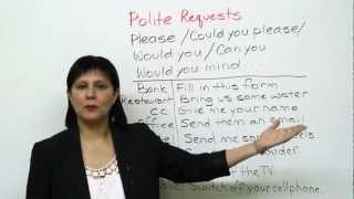 Video Conversational English - How to make polite requests MP3, 3GP, MP4, WEBM, AVI, FLV Januari 2018