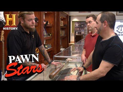 Pawn Stars: Ty Cobb, Joe Sewell Game Used Signed Bat   History