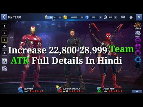 [[ How To Increase 22,800-28,999 Team ATK Full Details In Hindil ]] Marvel Future Fight HINDI INDIA
