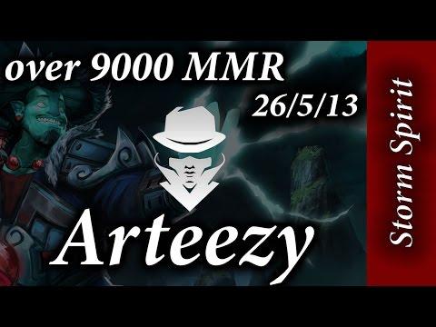 Arteezy Storm Spirit 9k MMR game 26-5-13 50% of the DMG!