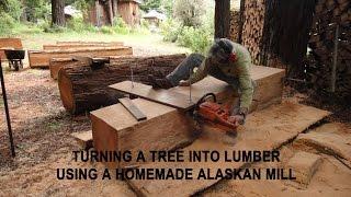 Video Turning a tree into lumber using a homemade Alaskan Mill MP3, 3GP, MP4, WEBM, AVI, FLV September 2019