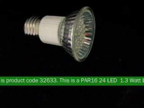 PAR16 24 LED 1.3 Watt LED Light