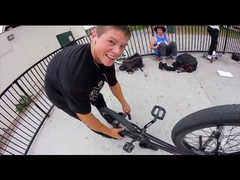 Stevie Churchill Long Beach Skatepark Session BMX
