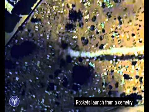 Terroristas de Gaza disparan cohetes desde un cementerio