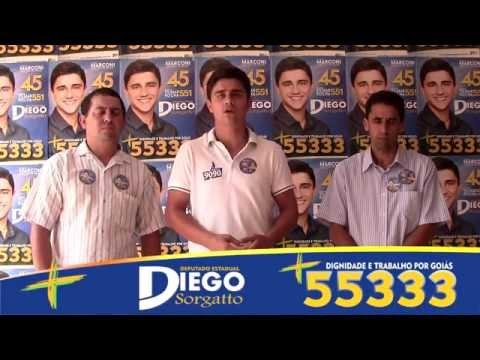 Candidato Diego Sorgatto - Caminhada em Cocalzinho de Goiás