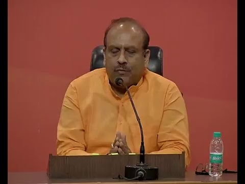 Press Conference by Shri Vijender Gupta and Dr. Sambit Patra