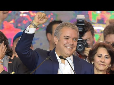 العرب اليوم - شاهد: كلمة إيفان دوكي المرشح اليميني بعد فوزه في انتخابات الرئاسة الكولومبية