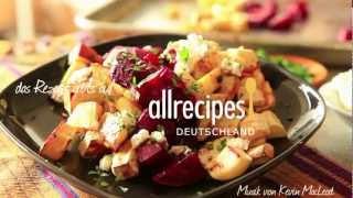 Salat aus geschmortem Wurzelgemüse