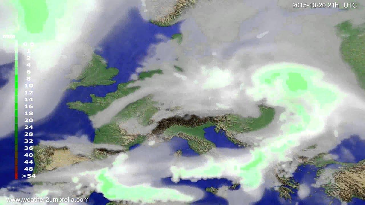 Precipitation forecast Europe 2015-10-17