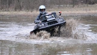 5. Kawasaki Brute Force 750 vs Yamaha Grizzly 700 mud water ride atv