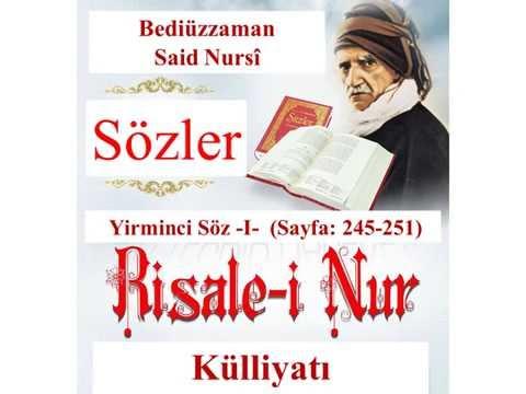 Risale-i Nur, Sözler, Yirminci Söz I , Bediüzzaman Said Nursi