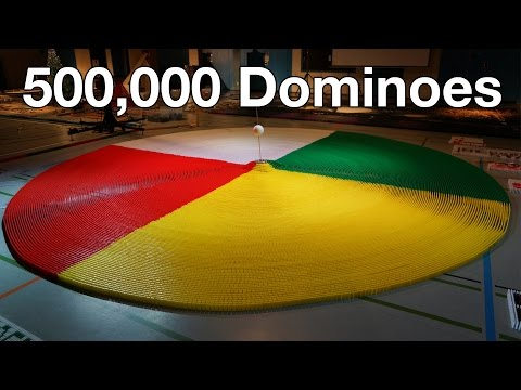 500,000 Dominoes – The Year in Domino – 3 Guinness World Records