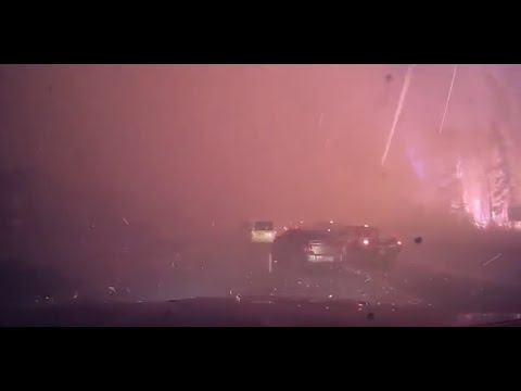Dash-Cam Footage of a Massive Wildfire in Canada