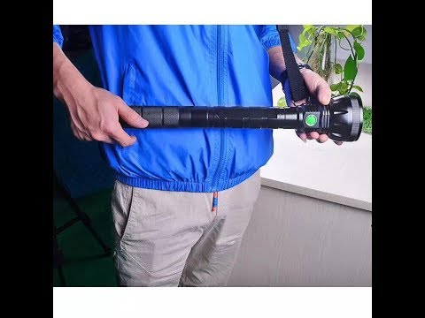 New Powerful 20000LM CREE 18T6 Led Professional Tactical Rechargeable Flashlight