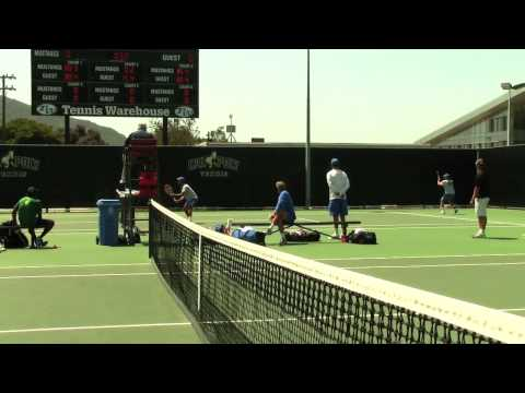 Cal Poly Men's Tennis vs. UC Santa Barbara (match highlights from April 19, 2014)