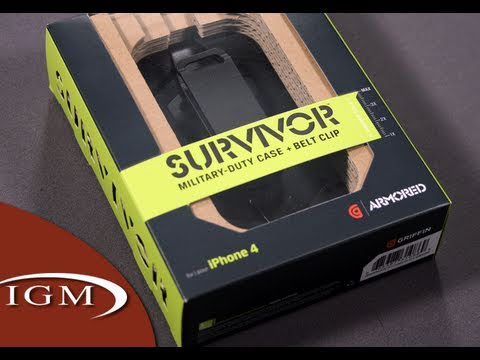 Griffin Technology's Rugged Survivor Case for iPhone 4 + Otterbox/Trident Comparison (Review)