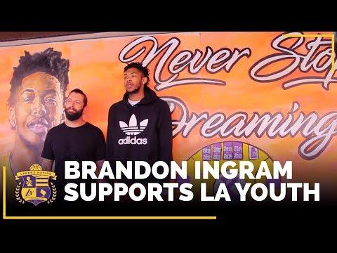 Video: Brandon Ingram Encourages LA Youth: 'Never Stop Dreaming!'