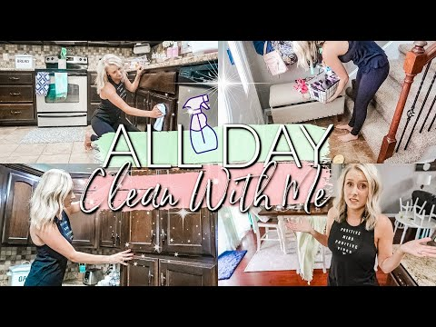 ALL DAY CLEAN WITH ME 2019|EXTREME CLEANING MOTIVATION|CLEANING ROUTINE OF A STAY AT HOME MOM