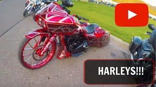 10. HARLEYS!!! Honda CB300F on the freeway