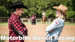 Video HORSEPOWER SHOWDOWN: Marc Marquez barrel racing against Jackie Ganter MP3, 3GP, MP4, WEBM, AVI, FLV April 2018