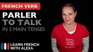 Alexa teaches you how to conjugate Parler (to talk) in 5 main French tenses. SUPPORT GUIDE and EXCLUSIVE VIDS at ► https://learnfrenchwithalexa.com. Test your French level with our partner KWIZIQ ► http://learnfren.ch/testyourlevel ----------------------------------------------SUPPORT MY VIDEOS My Patreon page ► https://patreon.com/french----------------------------------------------RECOMMENDED PLAYLISTSCommon French Verbs  ► http://learnfren.ch/verbsLFWA----------------------------------------------MY LIVE LESSONSJoin my live lessons ► http://learnfren.ch/live-lessons----------------------------------------------MY LINKSMy Blog ► https://learnfrenchwithalexa.com/blogFacebook ► http://learnfren.ch/faceLFWATwitter ► http://learnfren.ch/twitLFWALinkedIn ► http://learnfren.ch/linkedinLFWANewsletter ► http://learnfren.ch/newsletterLFWAGoogle+ ► http://learnfren.ch/plusLFWAMy Soundcloud ► https://soundcloud.com/learnfrenchwithalexaT-Shirts ► http://learnfren.ch/tshirtsLFWA----------------------------------------------MORE ABOUT LEARN FRENCH WITH ALEXA'S 'HOW TO SPEAK' FRENCH VIDEO LESSONSAlexa Polidoro a real French teacher with many years' experience of teaching French to adults and children at all levels. People from all over the world enjoy learning how to speak French with Alexa's popular online video and audio French lessons. They're fun, friendly and stress-free! It's like she's actually sitting there with you, helping you along... Your very own personal French tutor.Please Like, Share and Subscribe if you enjoyed this video. Merci et Bisou Bisou xx----------------------------------------------Ready to take your French to the next level? Visit ► https://learnfrenchwithalexa.com to try out Alexa's popular French courses.