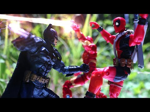 Iron Man Batman Deadpool Spiderman Stop Motion Animation Video Part 1 W Toys - Funny By Lego TMNT
