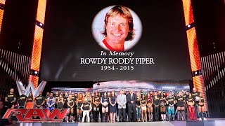 The entire WWE roster honors WWE Hall of Famer