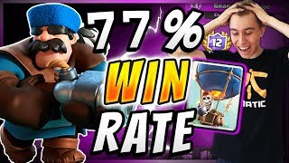 77% WIN RATE! Current BEST Balloon Deck In Clash Royale!