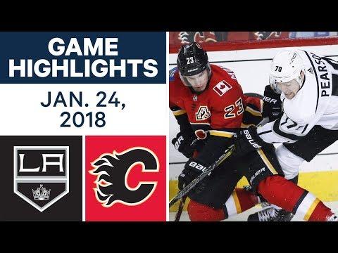Video: NHL Game Highlights | Kings vs. Flames — Jan. 24, 2018