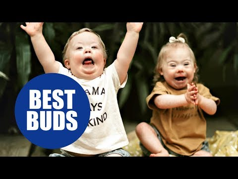 Veure vídeo Cute baby with Down syndrome playing and having fun with his friend. Noah