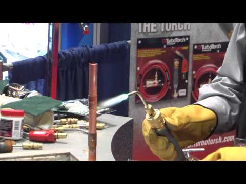 TurboTorch - Copper Pipe Brazing Demonstration