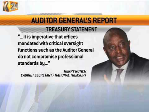 Treasury CS faults Auditor General report on the financial statements for the year 2013-2014