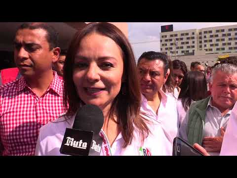 Nuvia Mayorga, precandidata del PRI al senado de la rep�blica por Hidalgo.