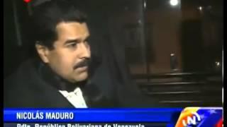 Presidente Maduro manejó un ómnibus por Montevideo
