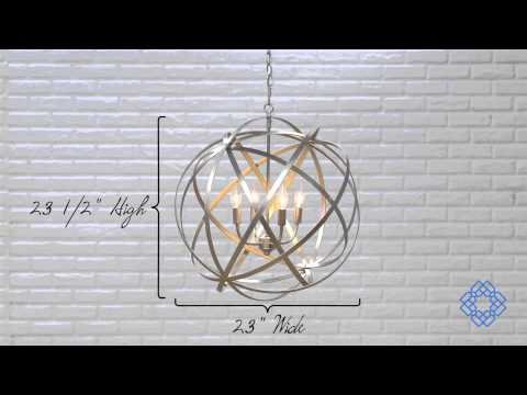 Video for Axis Winter Gold Four Light Pendant