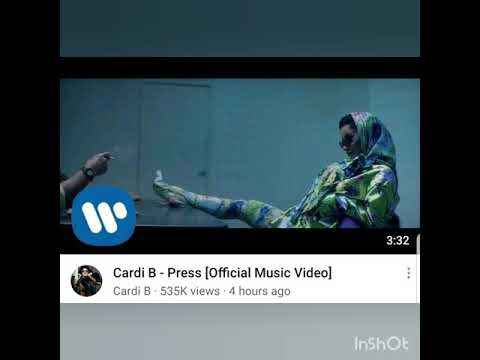 Cardi B - press (official music video ) watch now ....