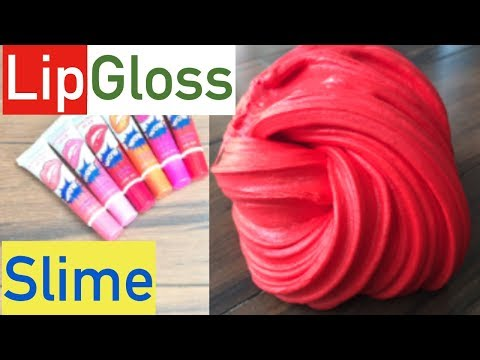 Lip Gloss Slime Without Glue Or Facemask!! No Glue No Borax Slime Recipe