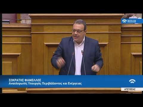 Σ.Φάμελλος(Αν.Υπουργ.Περιβάλλοντος και Ενέργ.)(Προϋπολογισμός 2019)(13/12/2018)