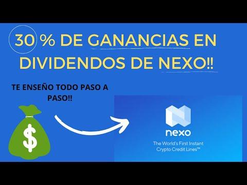 NEXO TOKENS 30 % DE RETORNO DE DIVIDENDOS, COMO COMPRAR, QUE GANANCIAS OBTENDRIAS, ES UNA INVERSION?