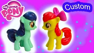 Custom MLP My Little Pony Apple Bloom Colt DIY Painted Craft Toy - YouTube