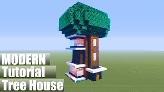 Minecraft Tutorial: How To Make A Modern Treehouse 2020