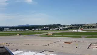 Swiss Avro rj100  Jumbolino  Last landing with Water Salute 😓