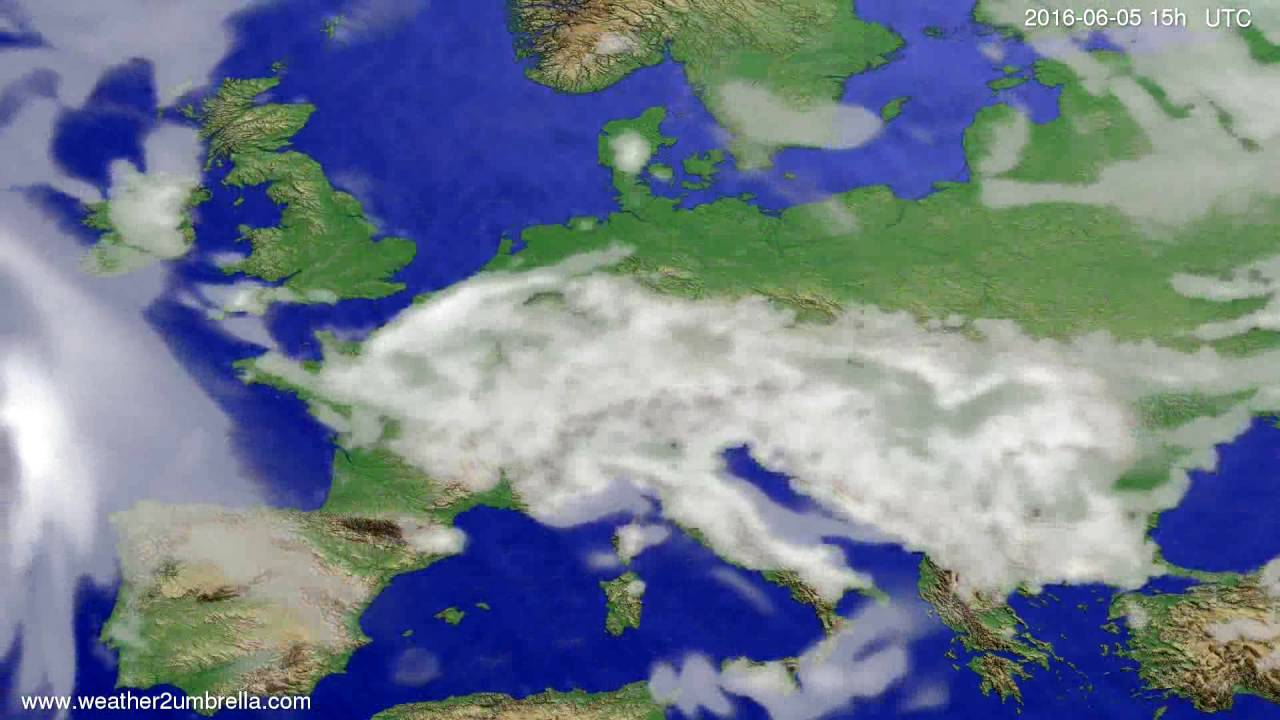 Cloud forecast Europe 2016-06-03