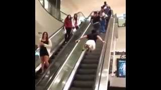Epic Escalator Workout - Superman Is Real!