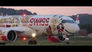 Swiss LX 1513 Graz Airport - Zurich Airport 13.07.2017 Departure: 19.55 Arrival: 21.10 Takeoff Graz Airport  GRZ  LOWG Runway 17C, 3000m x 45m Asphalt Bomb...