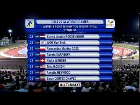 Гонка на бали з вибуванням 10000 метрів (ТРЕК) Жінки, Всесвітні Ігри-2013