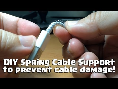 DIY Spring Cable Support - To prevent cable damage
