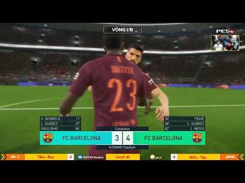 PES League 2v2 | Vòng 1/8 | [WE1] Tâm Barca + Ken Nguyễn vs [MYM] Tân + Puma 24-12-17